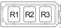 Toyota Hilux - fuse box diagram - engine compartment relay box