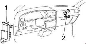 Toyota Hilux - fuse box diagram - passenger compartment