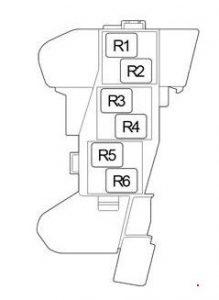 Toyota Hilux - fuse box diagram - passenger compartment (box 4)