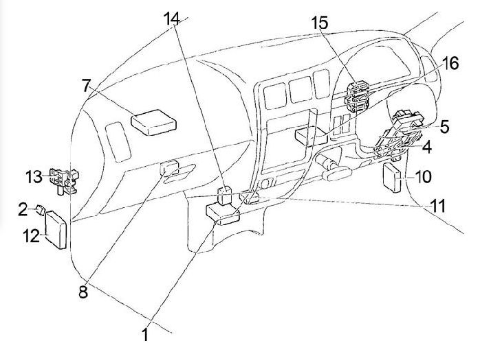 Toyota Hilux 1997 – 2005 Fuse Box Diagram: 99 Lexus Es300 Fuse Box Diagram At Johnprice.co