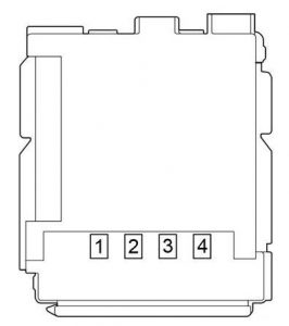 Toyota- Prius - fuse box diagram - passenger compartment fuse box