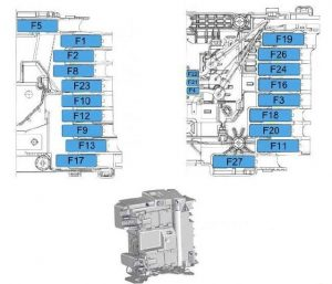 Toyota ProAcea - fuse box diagram - engine compartment (FULL)