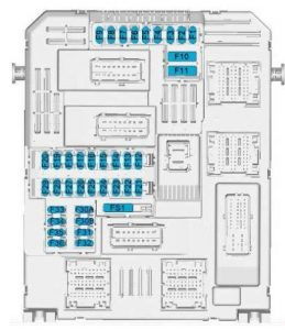 Toyota ProAcea - fuse box diagram - passenger compartment box 1