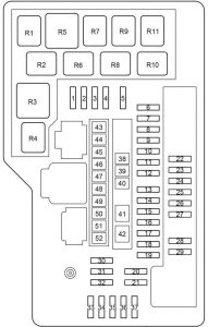 Toyota Venza - fuse box diagram - engine compartment fuse box