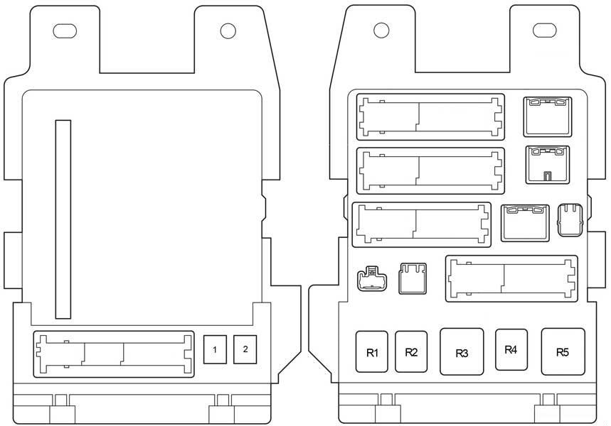 toyota venza - fuse box diagram - passenger compartment fuse box