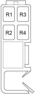 Toyota Venza - fuse box diagram - passenger compartment relay box