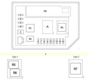 Toyota Verso-S - fuse box diagram - engine compartment fuse box 2