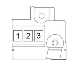 Toyota Verso-S - fuse box diagram - fusible link block (diesel)