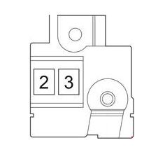 Toyota Verso-S - fuse box diagram - fusible link block (gasoline)