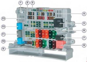BMW 1 (E81/E82/E87/E88; 2004 - 2013) - fuse box diagram ...