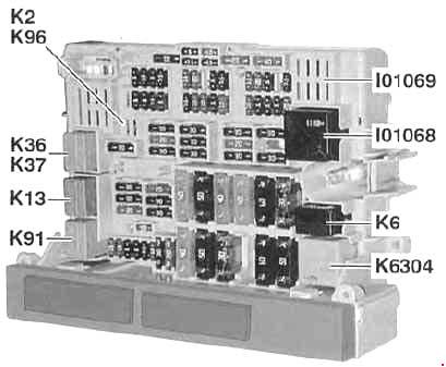 BMW 3 Series (E90, E91, E92, E93) (2005 - 2010) - fuse box diagram ...