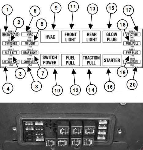bobcat s185 - fuse box diagram
