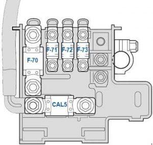 Ferrari 458 - fuse box diagram - battery compartment