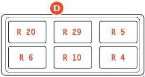Ferrari 599 - fuse box diagram - passenger compartment - box D