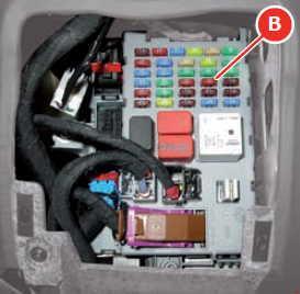 Ferrari F12Berlinetta - fuse box diagram - body computer - box A