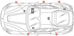 Ferrari F12Berlinetta - fuse box diagram - location
