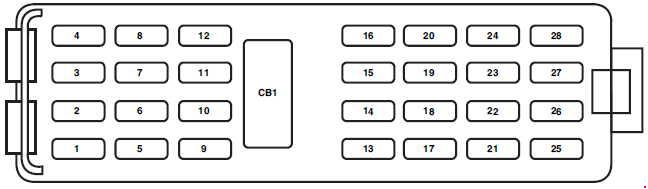 Ford Explorer U251  2005 - 2010  - Fuse Box Diagram