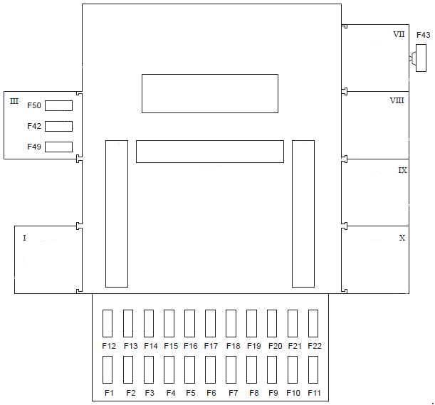 ford fiesta 1997 2002 fuse box diagram auto genius. Black Bedroom Furniture Sets. Home Design Ideas
