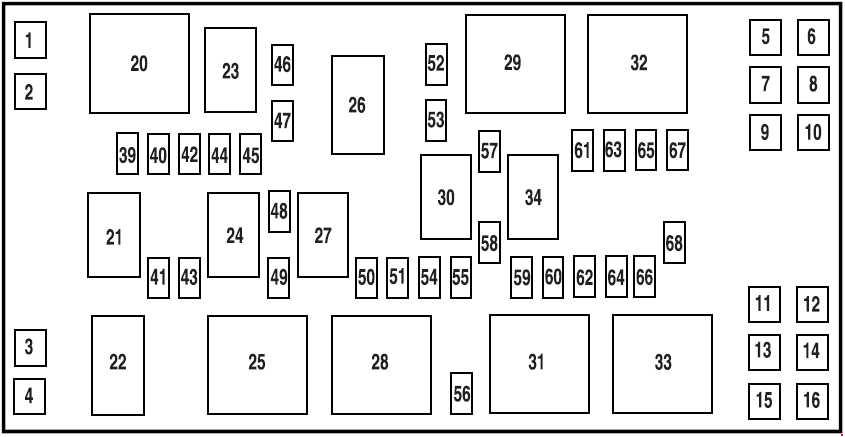 ford mustang  2005 - 2009  - fuse box diagram
