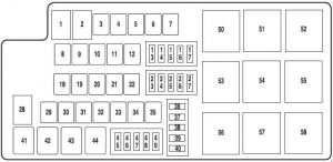 ford mustang 2010 2014 fuse box diagram auto genius. Black Bedroom Furniture Sets. Home Design Ideas