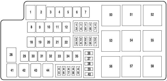 Ford Mustang (2010 - 2014) - fuse box diagram - Auto Genius