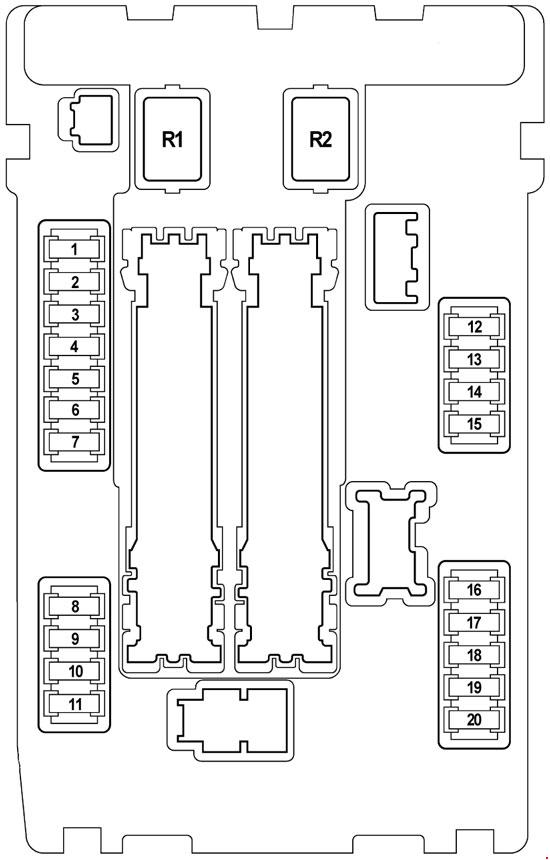 Infiniti Qx70  S51  2008 - 2017  - Fuse Box Diagram
