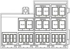 Iran Khodro Samand - fuse box diagram - engine compartment