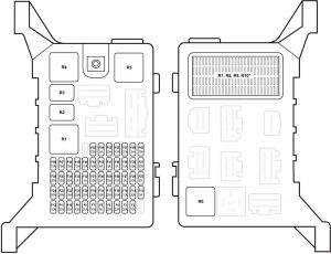 Jaguar X-Type - fuse box diagram - passenger compartment