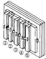 Komatsu PC25-1 - fuse box diagram