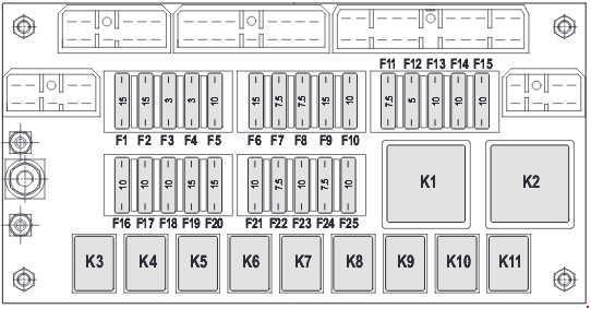 komatsu wb93s-5 - fuse box diagram - auto genius k 5 fuse box diagram mazda 5 fuse box diagram