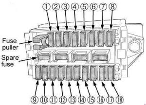 kubota tractor m7040 - fuse box diagram