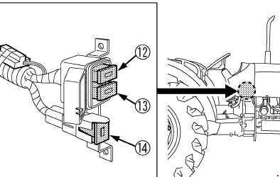 kubota tractor m9540 - fuse box diagram