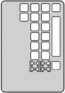 Lexus SC 430 - fuse box diagram - engine compartment (left)
