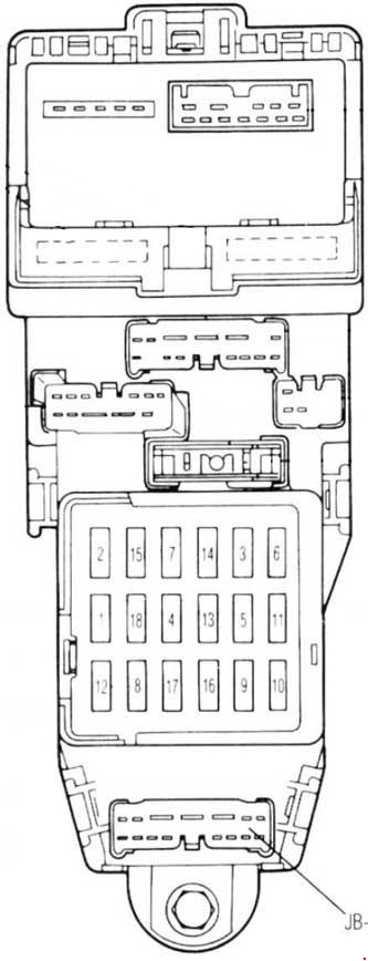 mazda 626 (1987 – 1992) – fuse box diagram