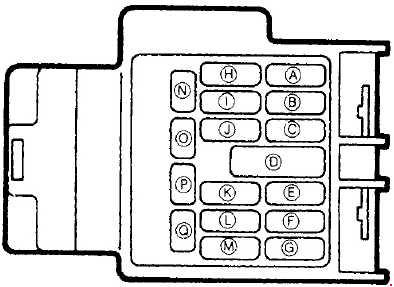 mazda mx-5  1989 - 1997  - fuse box diagram