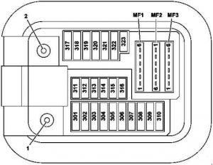 Mercedes-Benz S-Class (w222) - fuse box diagram - front passenger footwell