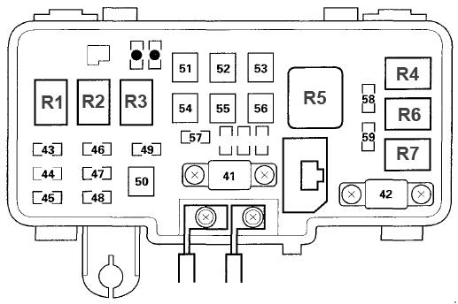 Acura Mdx  2001 - 2006  - Fuse Box Diagram