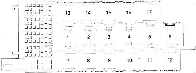 audi 200 (c3; 1989 - 1991) - fuse box diagram - auto genius  auto genius