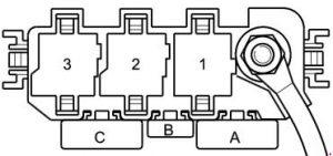 audi a2 - fuse box diagram