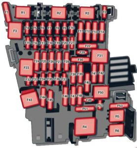 Audi       A3     2012  2016   fuse box    diagram     Auto Genius