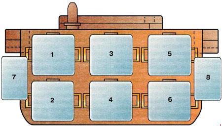 audi a6 c4 1994 1997 fuse box diagram auto genius. Black Bedroom Furniture Sets. Home Design Ideas