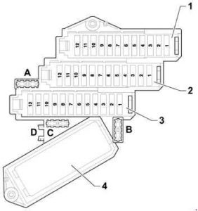 Audi Q7 2005 2015 Fuse Box Diagram on fuse box for audi q7