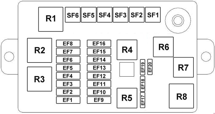 Chery J1  2007 - 2015  - Fuse Box Diagram