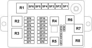 Chery A1 - fuse box diagram - engine compartment