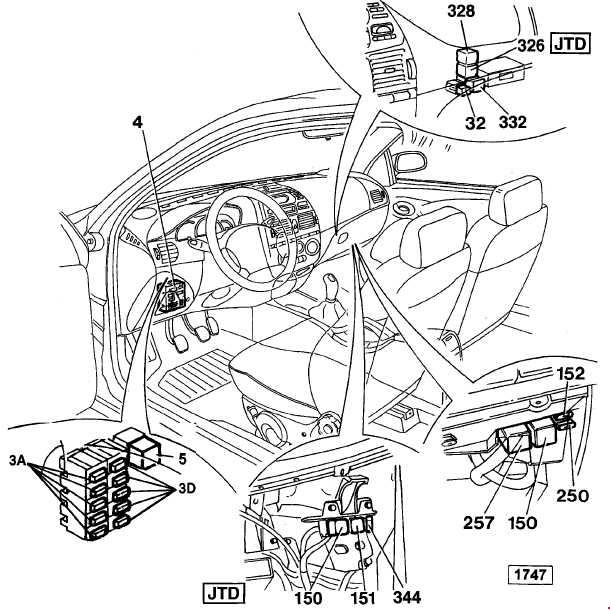 fiat marea  u2013 fuse box diagram