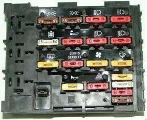 Fiat Uno - fuse box diagram - auxiliary fuse