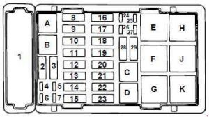 ford e 250 1997 2008 fuse box diagram auto genius. Black Bedroom Furniture Sets. Home Design Ideas