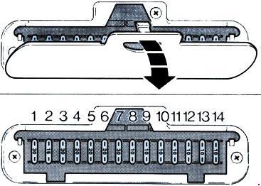 Ford       Fiesta     1983  1989   fuse box    diagram     Auto Genius