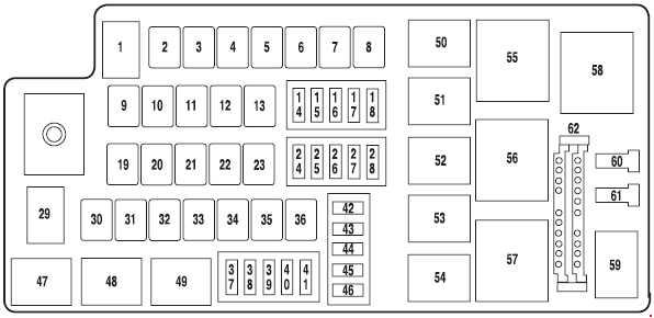 ford-five-hundred-fuse-box-diagram-engine-compartment-2004 Where Is The Fuse Box On A Ford Fusion on