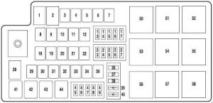 ford five hundred 2004 2007 fuse box diagram auto. Black Bedroom Furniture Sets. Home Design Ideas